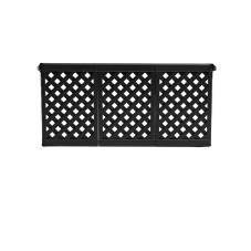 3 Section Black Fence Panel