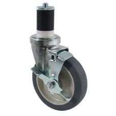 1 5/8 in Expanding Stem Caster with 5 in Wheel & Brake