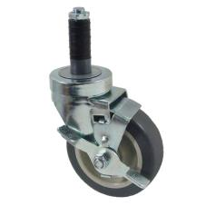 1 in Expanding Stem Caster With 4 in Wheel and Brake