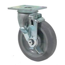 Heavy Duty Swivel Plate Caster With 5 in Wheel and Brake