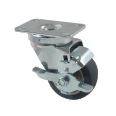 Heavy Duty Swivel Plate Caster With 3 in Wheel and Brake