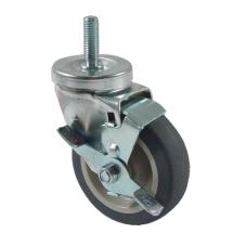 1/2 in Threaded Stem Caster w/ 4 in Wheel & Brake