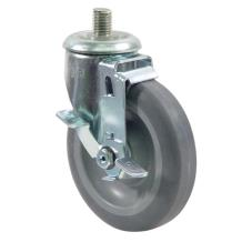 5/8 in Threaded 3/4 in High Stem Caster With 5 in Wheel and Brake