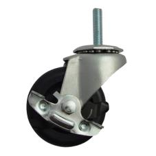 3/8 in Threaded Stem Caster With 3 in Wheel and Brake
