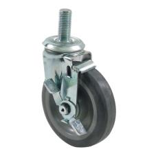 3/4 in Threaded Stem Caster With 5 in Wheel and Brake