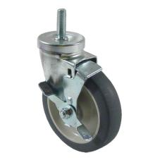 1/2 in Threaded Stem Caster With 5 in Wheel and Brake