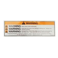 Changing Station Multicolor Warning Label
