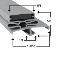 23 1/8 in x 25 1/8 in 4-Sided Magnetic Door Gasket