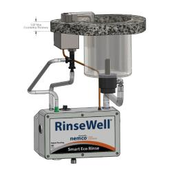 Nemco - 3005-606 - 6 in Round Smart Eco-Rinse Dipper Well w/ RinseWell® Controller image
