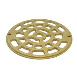 "Commercial - 4 7/8"" Round Brass Floor Drain Strainer image"