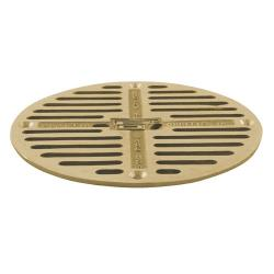 "Commercial - 7 1/2"" Round Brass Floor Drain Strainer image"