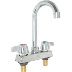BK Resources - BKD-8G-G - 4 in Standard Duty WorkForce Deck Mount Faucet with 8 in Gooseneck Spout image