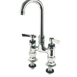 Encore Plumbing - KL57-4000-R - Heavy Duty Deck Mount Faucet w/ 4 in Centers & Rigid Gooseneck Spout image