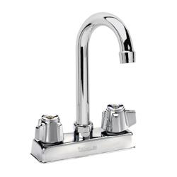 Krowne - 11-400L - Deck Mount Sink Faucet With 4 in Centers & 3 1/2 in Swivel Gooseneck Spout image