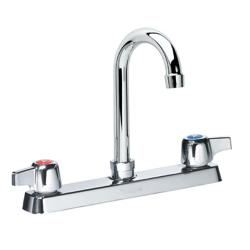 Krowne - 13-802L - Deck Mount Faucet With 8 in Centers & 8 1/2 in Swivel Gooseneck Spout image