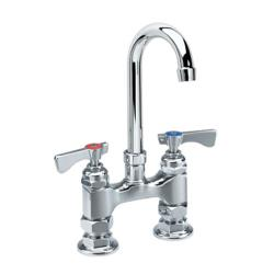 Krowne - 15-425L - Royal Series Deck Mount Faucet With 3 1/2 in Swivel Gooseneck Spout image
