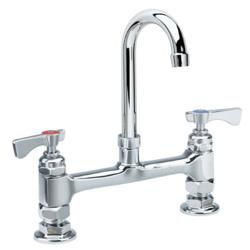 Krowne - 15-801L - Royal Series Deck Mount Faucet With 8 in Centers & 6 in Swivel Gooseneck image