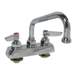 "T&S Brass - B-1110 - Heavy Duty 4"" Deck Mount Faucet w/ 6"" Spout image"