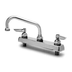 T&S Brass - B-1123 - 12 in Deck Mount Faucet With 8 in Centers image