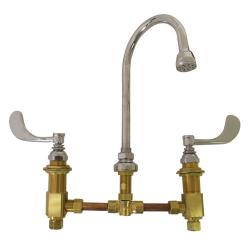 T&S Brass - B-2866-04 - 8 in Deck Mount Faucet with Gooseneck Spout image