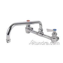"Fisher - 46337 - Heavy Duty 8"" Stainless Steel Wall Mount Faucet w/16"" Spout image"