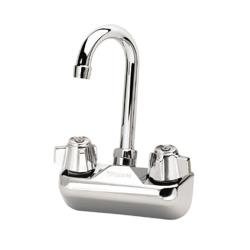 Krowne - 10-400L - Wall Mount Sink Faucet With 4 in Centers & 3 1/2 in Swivel Gooseneck Spout image