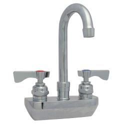 Krowne - 14-400L - Heavy Duty Wall Mount Faucet w/ 4 in Centers & Swivel Gooseneck Spout image