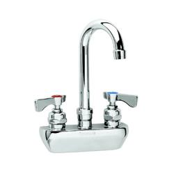 Krowne - 14-402L - Royal Series Wall Mount Faucet With 8 1/2 in Swivel Gooseneck Spout image