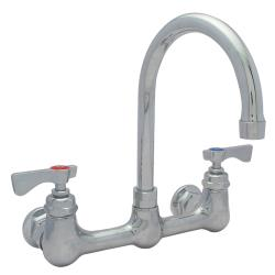 Krowne - 14-801L - Heavy Duty Wall Mount Faucet w/ 8 in Centers & Swivel Gooseneck Spout image