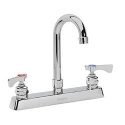 Krowne - 15-501L - 8 in Royal Series Wall Mount Faucet w/ 6 in Gooseneck Spout image