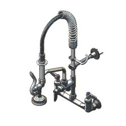 T&S Brass - MPZ-8WLN-06 - Wall Mount Mini Pre-Rinse with 6 in Add-On Nozzle image