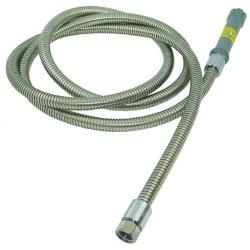 T&S Brass - B-0044-H - 44 in Flexible Stainles Steel Pre-Rinse Hose with Handle image