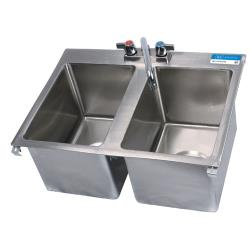 BK Resources - BK-DIS-1014-2 - 10 in x 14 in x 10 in Two Compartment Sink image