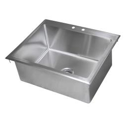 BK Resources - BK-DIS-2820 - 28 in x 20 in x 12 in One Compartment Drop-In Sink image