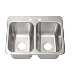 BK Resources - DDI2-10141024 - 14 in x 10 in 2-Compartment Drop-In Sink image