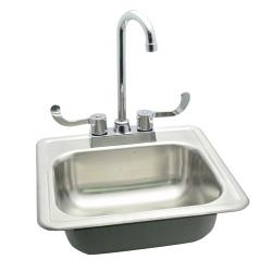 "Commercial - 15"" Drop-In Hand Sink w/ Faucet image"