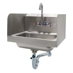 Advance Tabco - 7-PS-40 - 14 in x 10 in x 5 in Hand Sink w/ Side Splashes and Lever Drain image