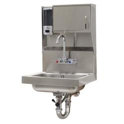 Advance Tabco - 7-PS-80 - 14 in x 10 in x 5 in Hand Sink w/ Soap and Towel Dispenser and Lever Drain image