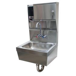 Advance Tabco - 7-PS-85 - 14 in x 10 in x 5 in Hand Sink w/ Soap and Towel Dispenser image