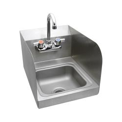 BK Resources - BKHS-W-SS-SS-P-G - Space Saver Hand Sink With Side Splashes image