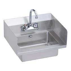 Elkay - EHS-18-SDX - 18 in x 14 1/2 in Hand Sink With Side Splashes And Overflow image