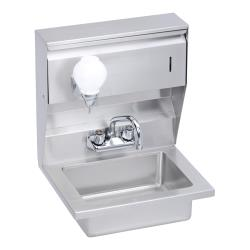 Elkay SSP - EHS-18-STDX - 18 x 14 1/2 in Hand Sink With Soap And Towel Dispenser image