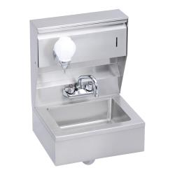 Elkay SSP - EHS-18-TSX - 18 x 14 1/2 in Hand Sink With Soap And Towl Dispenser Skirt And P-Trap image