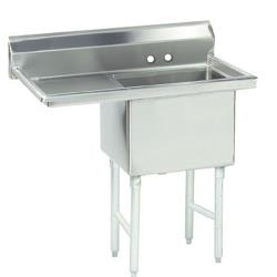 Advance Tabco - FC-1-1620-18L-X - 16 in x 20 in x 14 in 1 Compartment Sink w/ Left Drainboard image