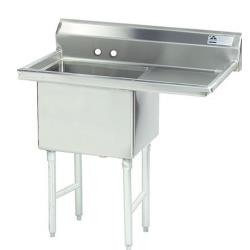 Advance Tabco - FC-1-1818-18R-X - 18 in x 18 in x 14 in 1 Compartment Sink w/ Right Drainboard image
