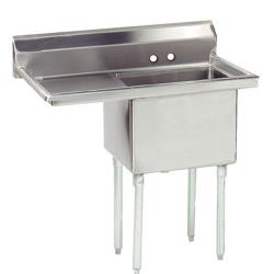 Advance Tabco - FE-1-1620-18L-X - 16 in x 20 in x 12 in 1 Compartment Sink w/ Left Drainboard image