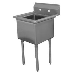 Advance Tabco - FE-1-1620-x - 16 in x 20 in x 12 in 1 Compartment Sink w/ No Drainboards image