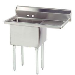 Advance Tabco - FE-1-1812-18R-X - 18 in x 18 in x 12 in 1 Compartment Sink w/ Right Drainboard image