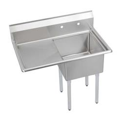 Elkay SSP - S1C18X18-L-18X - Super Economy 38 1/2 in One Compartment Sink With Left 18 in Drainboard image