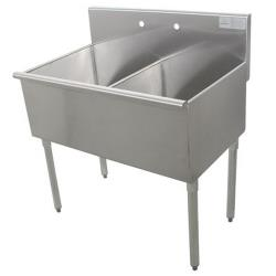 Advance Tabco - 4-42-48-X - 24 in x 24 in x 13 in 2 Compartment Utility Sink image